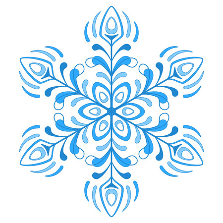 Snowflake isolated - winter natural object, complex figured form Stock Vector - 8308338