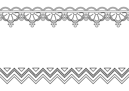 Abstract   background, seamless monochrome contours ornament Stock Vector - 8408186