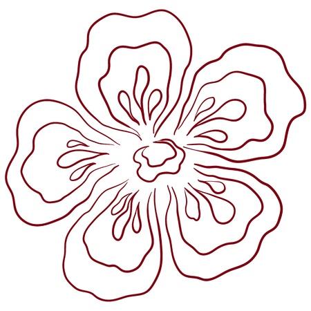 Flower graphic symbol, pictogram stylized icon, isolated