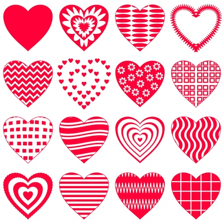 Valentine vector heart, love symbol, pattern, set pictogram