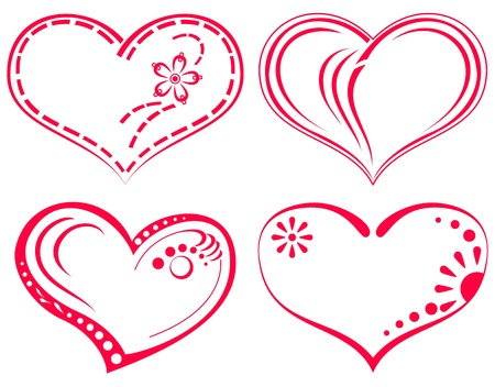 heart drawing: Valentine   heart, love symbol, pattern, set pictogram