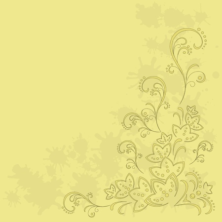 Abstract vector background with a symbolical flower pattern Stock Vector - 9122428