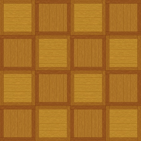 timbered: Wooden square brown parquet, seamless vector background