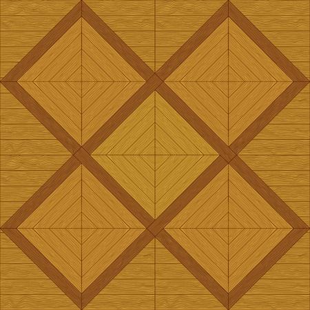 hardwood flooring: Деревянный квадрат коричневый паркет, бесшовные фон вектор Иллюстрация