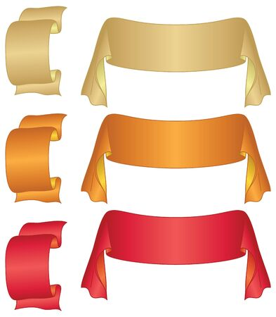 Set of banners modern ribbons, different colors. Vector Vector