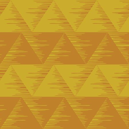 Abstract seamless background, brown and yellow triangles. Vector photo