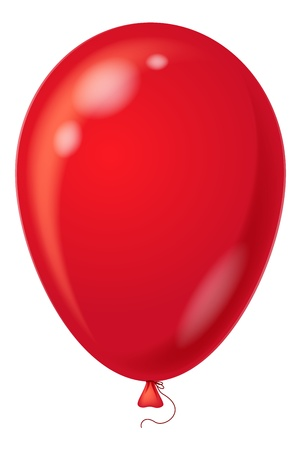 lucidity: Colorful red balloon, element for holiday background, isolated, eps10, contains transparencies. Vector