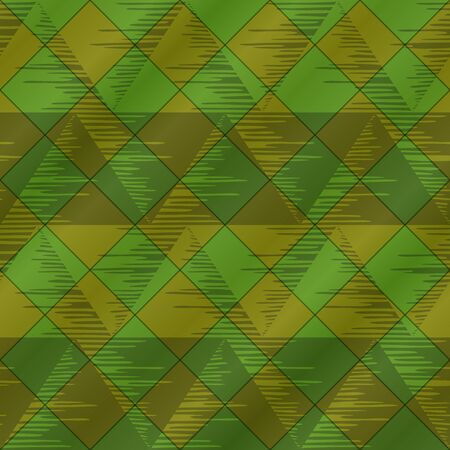 Abstract seamless background, - triangles and plaid, green. Vector eps10, contains transparencies photo