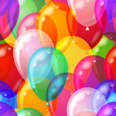 Balloons seamless pattern background, beautiful colorful illustration, eps10, contains transparencies. Vector Stock Illustration - 12498590