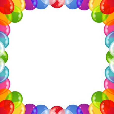 Balloons frame of various colors, beautiful background, isolated, eps10, contains transparencies  Vector Vector