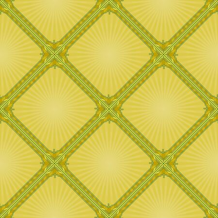 Background, abstract seamless wallpaper design with yellow squares  Vector Vector