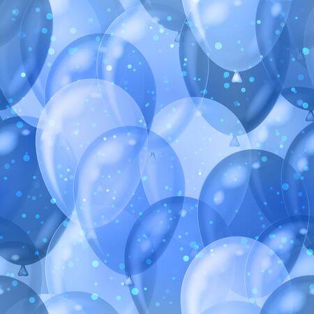 cold background: Balloons seamless sfondo blu modello, bella illustrazione, eps10, contiene Vector lucidi