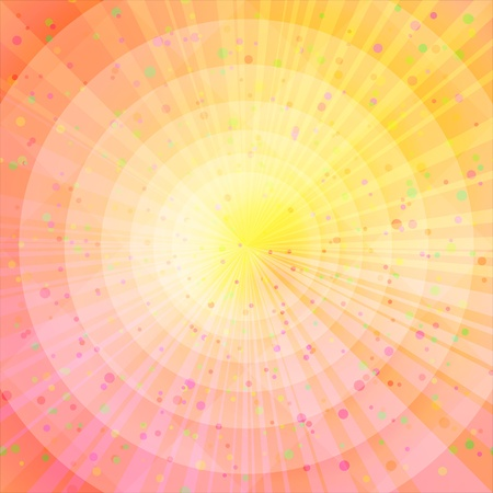 Background design, abstract bright orange and yellow magic backdrop contains transparencies