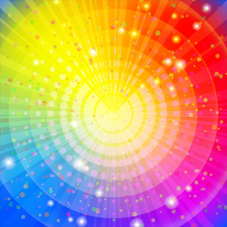 rainbow: Background design, abstract bright rainbow magic backdrop  Vector eps10, contains transparencies Ilustra��o