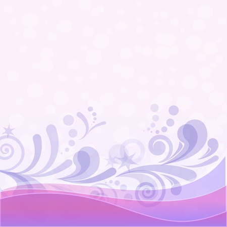 Abstract violet and lilac background with symbolical figures  contains transparencies Vector