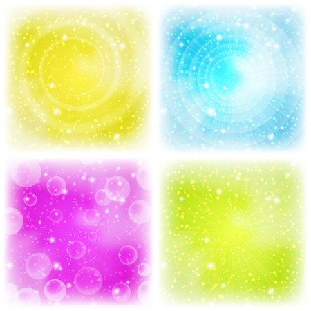 Background design, abstract bright colorful magic backdrop, set photo