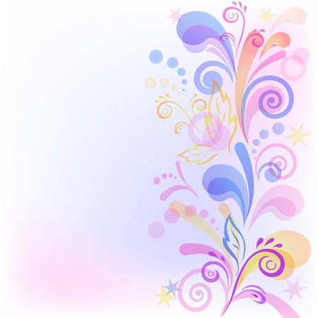 Abstract background with symbolical flower and figures  Vector eps10, contains transparencies Vector