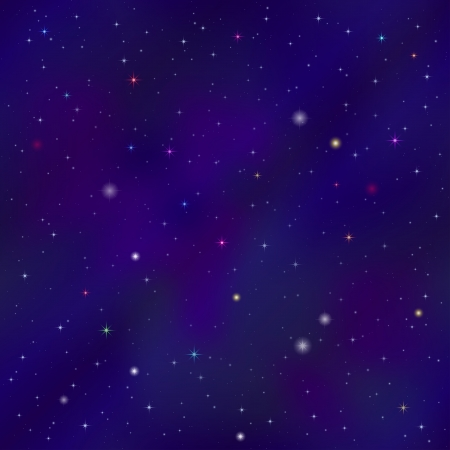 Space background with dark blue sky and stars , contains transparencies Vector