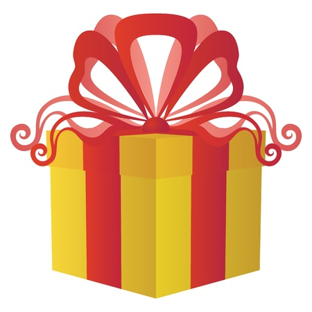 package icon: Gift box with bow Illustration