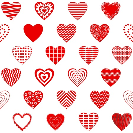 Valentine seamless with pictogram hearts, abstract background pattern, symbol of love Stock Vector - 14634717