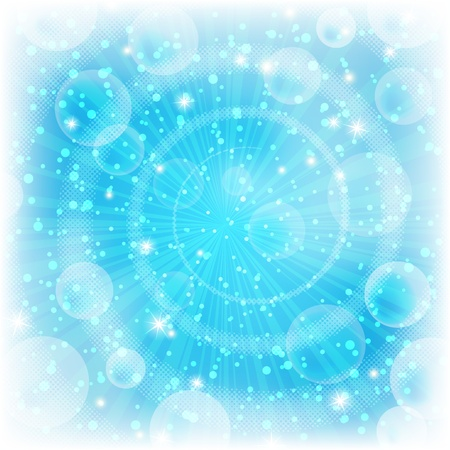 emanation: Background design, abstract bright blue magic backdrop, Vector eps10, contains transparencies