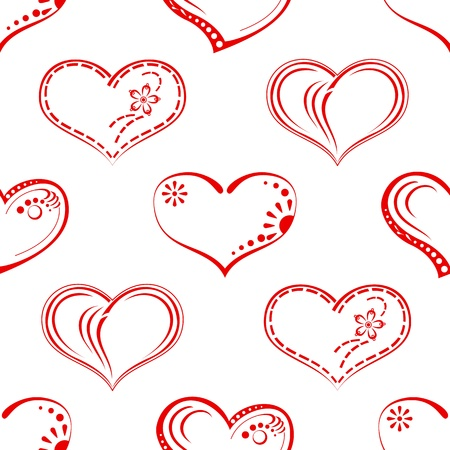 Valentine seamless with pictogram hearts, abstract background pattern, symbol of love  Vector Stock Vector - 14800577