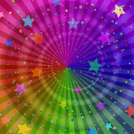 Background design, abstract bright rainbow magic backdrop  , contains transparencies Vector