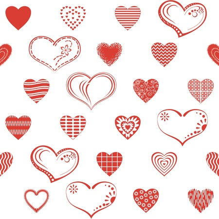 Valentine seamless with pictogram hearts, abstract background pattern, symbol of love  Vector Stock Vector - 15143077