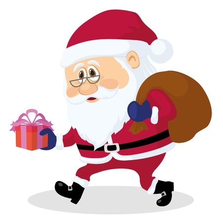 Santa Claus with a bag of gifts Stock Vector - 15428624