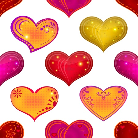Valentine holiday seamless with hearts, abstract background pattern, symbol of love  contains transparencies Stock Vector - 15554324