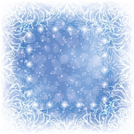 Christmas blue background for holiday design with abstract patterns, stars and circles Stock Vector - 15783380