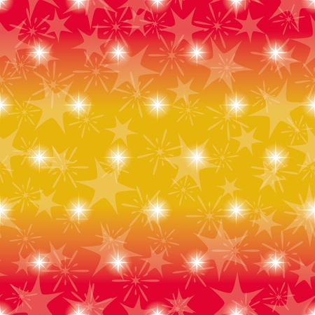 Red and yellow seamless background for holiday design with stars Stock Vector - 16002336