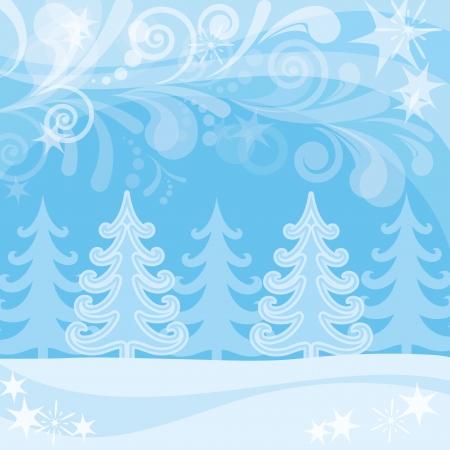 snowdrifts: Paesaggio di Natale, nevoso foresta invernale e disegni astratti, sfondo per il design vacanza, contenente i lucidi