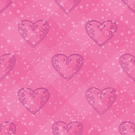 Valentine holiday seamless with pictogram hearts, abstract pink background pattern  Stock Vector - 16252545
