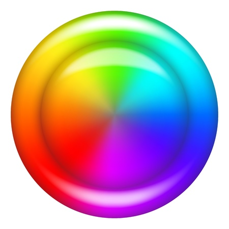 rainbow: Rainbow circle button or background for abstract web design    Illustration