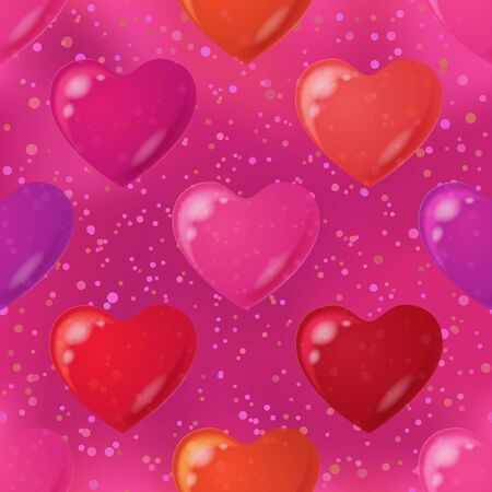 cardia: Valentine holiday seamless background with hearts, abstract colorful pattern  Eps10, contains transparencies  Vector Illustration