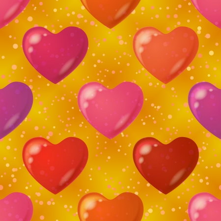 Valentine holiday seamless background with hearts, abstract colorful pattern  Eps10, contains transparencies  Vector Stock Vector - 18570214