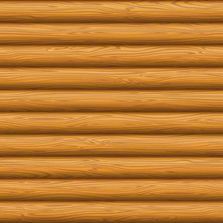 Natural wooden timbered wall texture, seamless background  Vector Vector