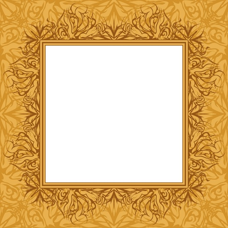 Background with abstract graphic contour pattern, frame and empty space for text  Vector Illustration