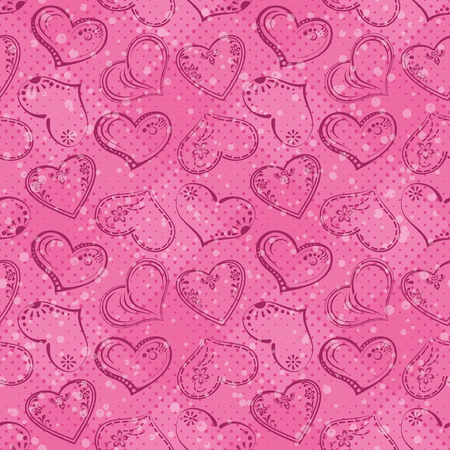 cordial: Valentine holiday seamless pattern with pictogram hearts