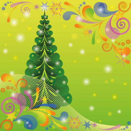 Christmas background for holiday design with fir tree Stock Vector - 23772273