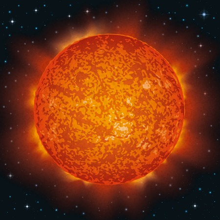 Space background, realistic Star Sun and stars. Elements of this image furnished by NASA (http://solarsystem.nasa.gov). Eps10, contains transparencies. Vector