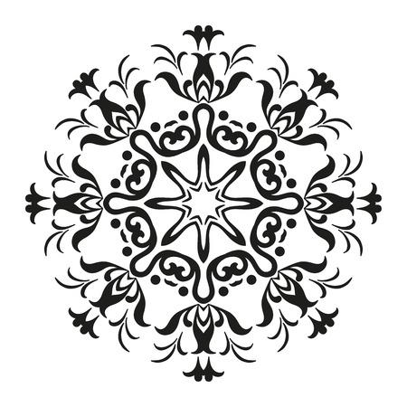 Abstrakte grafische Schwarz-Weiß-Kontur-Muster, isoliert auf weißem Hintergrund.