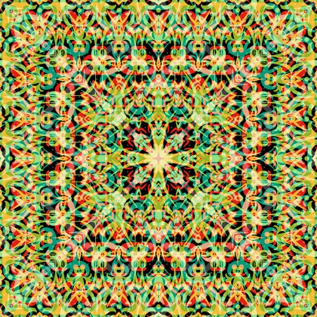 symbolical: Abstract seamless background with symbolical colorful floral patterns. Eps10, contains transparencies. Vector