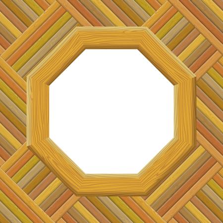 furnier: Holzrahmen an der Wand mit leeren Leerraum, Hintergrund f�r Ihr Bild oder Text. Vektor