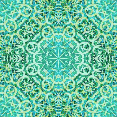 symbolical: Abstract Seamless Background with Symbolical Colorful Floral Patterns. Eps10, Contains Transparencies. Vector Illustration