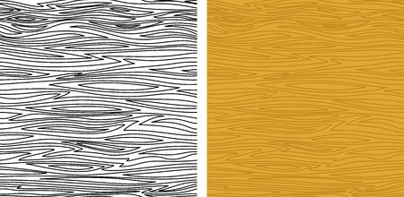 log wall: Set of Seamless Backgrounds of Brown Natural Wooden Texture and Contour Wooden Texture. Vector Illustration