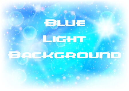 Abstract Blue Light Background with White Sparks, Stars and Confetti. Eps10, Contains Transparencies. Vector Illustration