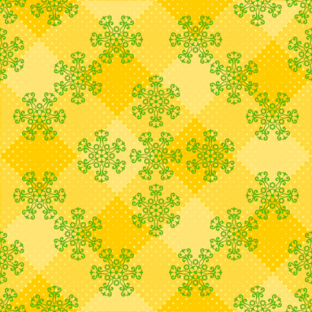 Abstract Tile Seamless Background, Ornament with Symbolical Colorful Floral Patterns. Vector Stock Vector - 79416551