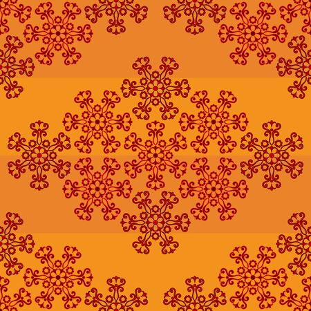 Abstract Tile Seamless Background, Ornament with Symbolical Colorful Floral Patterns. Vector Stock Vector - 79416552